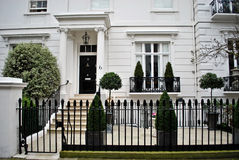 Typical white house. Typical english style white house, London, UK Stock Photos