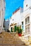 Village of Ostuni, Puglia, Italy. Typical white houses in the hillside village of Ostuni, Puglia, Italy stock photos