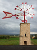 Typical Windmill. In Majorca (Balearic Islands - Spain Royalty Free Stock Photography