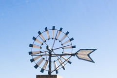 Typical windmill in Mallorca island. In Spain Stock Photos