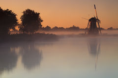 Typical windmill from the Netherlands Royalty Free Stock Photos