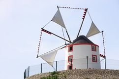 Portugal windmill Royalty Free Stock Image