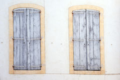 Typical window in Avignon Royalty Free Stock Image