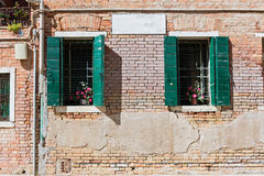 Typical window in a house in old Europe Royalty Free Stock Photography