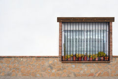 Typical window in a house Royalty Free Stock Image