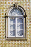 Typical window of portuguese houses Royalty Free Stock Images