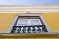 Typical window of portuguese houses Royalty Free Stock Photo