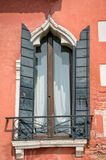 Typical window in Venice Italy Stock Photography