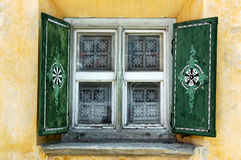 Typical Window - Zuoz, Engadine Switzerland Royalty Free Stock Photography