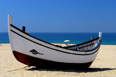Typical wood boat. Paddling wood boat Royalty Free Stock Photography