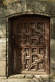 Typical Wood Door San Angel Mexico City Royalty Free Stock Photo