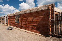 Typical wood house in the west of Mongolia Royalty Free Stock Photography