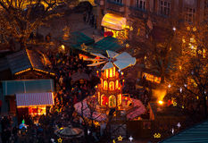 Typical wooden christmas carousel, Munich Royalty Free Stock Images