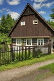 Typical wooden cottage Royalty Free Stock Photography