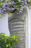 Typical wooden door of Menorca Royalty Free Stock Photography