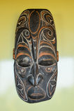 Typical Wooden Face Mask. From Papua New Guinea Royalty Free Stock Photo