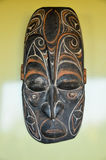 Typical Wooden Face Mask. From Papua New Guinea Stock Images