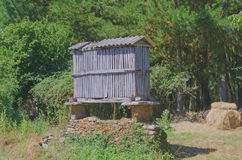 Typical wooden horreo in Saint James Way Royalty Free Stock Images
