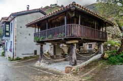 Typical wooden house in Asturias, northern Spain Stock Photo