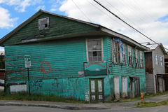 Typical wooden house on Chiloe Island, Chile Stock Image