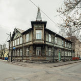 Typical wooden house in Tallinn Royalty Free Stock Photo