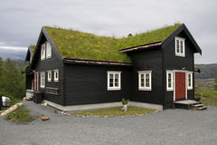 Typical  wooden houses on the coast of Norway Stock Photo