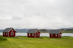 Typical wooden icelandic houses Stock Photos
