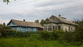 Typical wooden rural house in Northern Karelia Royalty Free Stock Image