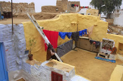 Typical yard of a house in Jaisalmer fort, India Stock Photography