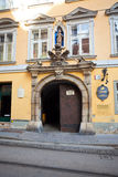Typical yellow building facade from  Graz, Austria Royalty Free Stock Photo