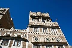 Typical yemeni architecture, Sanaa (Yemen). Royalty Free Stock Images