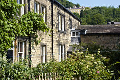 Typical Yorkshire millworker cottages Royalty Free Stock Photo