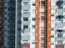 Typicall colorfull house in lisbon portugal royalty free stock photos