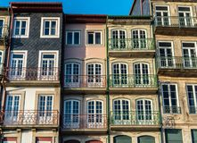 Typicall and colorfull house in porto ribeira stock image