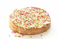 Typically dutch: biscuit with colored sprinkles. Isolated on white Stock Images