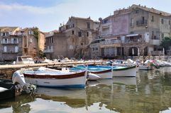 Typically small port Corsica Royalty Free Stock Photos