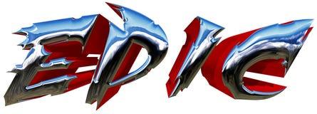 Typillustration för epos 3D med den snabba banan Royaltyfria Bilder