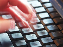 Typing #1 Stock Image