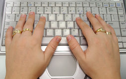 Typing Royalty Free Stock Photos