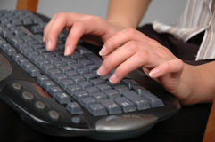 Typing-2 Royalty Free Stock Photos