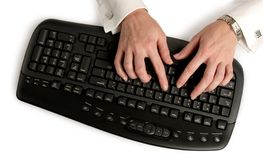 Typing. Business woman typing on keyboard Stock Photography