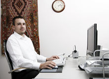 Typing Royalty Free Stock Photography