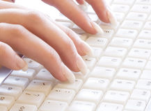 Typing. Secretary typing Royalty Free Stock Photo