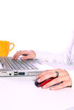 Typing It Away Royalty Free Stock Images