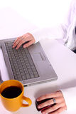 Typing It Away Stock Photography