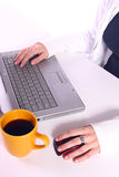 Typing It Away Royalty Free Stock Photo