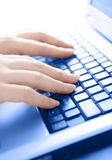 Typing away royalty free stock photography