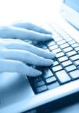 Typing away Stock Image