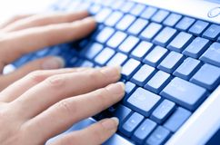 Typing away Royalty Free Stock Image