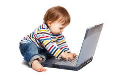 Typing baby Royalty Free Stock Image